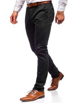 Spodnie chinosy męskie czarne Denley KA6807