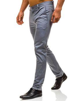 Spodnie chinosy męskie szare Denley 0204
