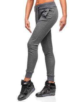 Spodnie dresowe damskie grafitowe Denley WB11003-A
