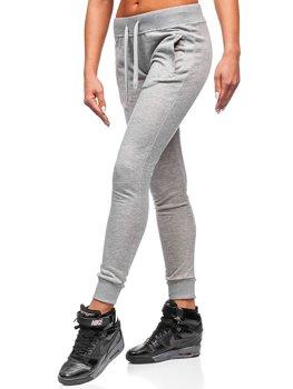 Spodnie dresowe damskie szare Denley WB11003-A