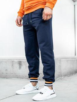 Spodnie dresowe męskie granatowe Bolf 145368