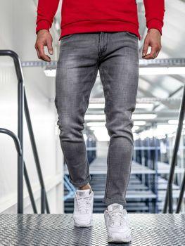 Spodnie jeansowe męskie slim fit czarne Denley KX308-5