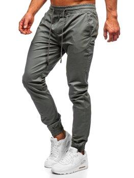 Spodnie joggery męskie jasnozielone Denley KA951