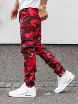 Spodnie joggery męskie moro-czerwone Bolf 0858