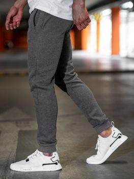 Spodnie męskie dresowe antracytowe Denley JX8978