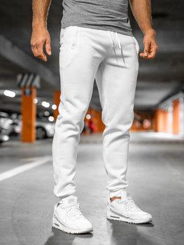 Spodnie męskie dresowe białe Denley XW01