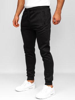 Spodnie męskie dresowe czarne Denley CK01