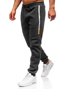 Spodnie męskie dresowe grafitowe Denley JX8958