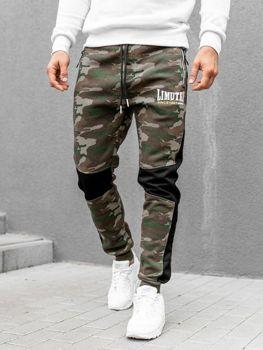 Spodnie męskie dresowe moro-biały Denley 3782