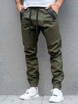 438c91b065 Spodnie męskie joggery khaki Bolf 0952