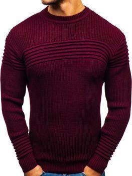 Sweter męski bordowy Denley 6004