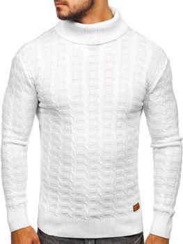 Sweter męski golf biały Denley 16