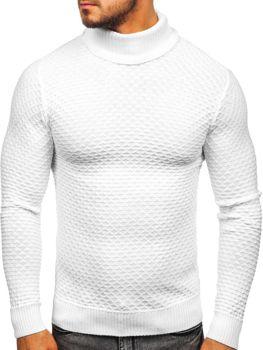 Sweter męski golf biały Denley 322