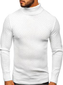 Sweter męski golf biały Denley 323