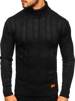 Sweter męski golf czarny Denley 5021