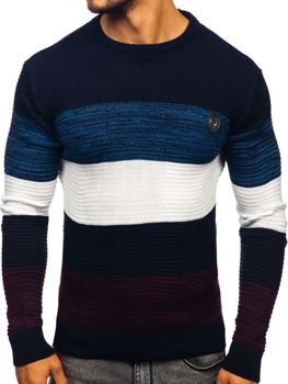 Sweter męski granatowy Denley 4000
