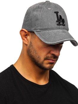 Szara czapka z daszkiem Denley CZ77