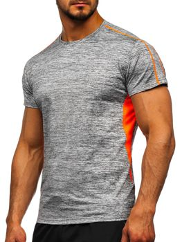 Szary T-shirt treningowy męski Denley KS2100