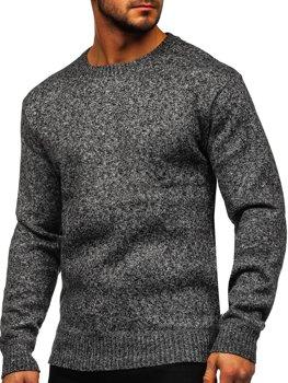 Szary ocieplany sweter męski Denley 7M117