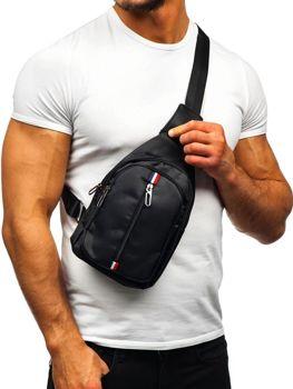 Torba męska na ramię nerka czarna Denley T49