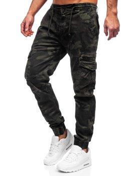 Zielone spodnie joggery bojówki męskie Denley CT6026S0