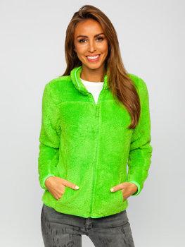 Zielony-neon polarowa kurtka damska Denley HH006
