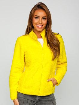 Żółta polarowa bluza damska Denley HH006