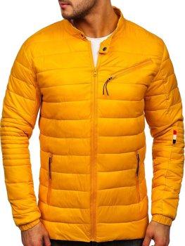 Żółta przejściowa kurtka męska Denley M13006