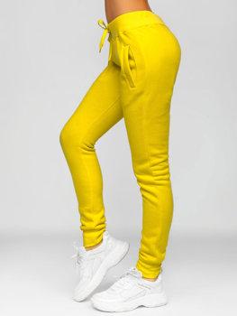 Żółte spodnie dresowe damskie Denley CK-01-28