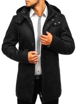 Płaszcz męski zimowy czarny Denley 5440