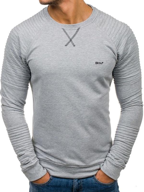 Bluza męska bez kaptura szara Bolf 80