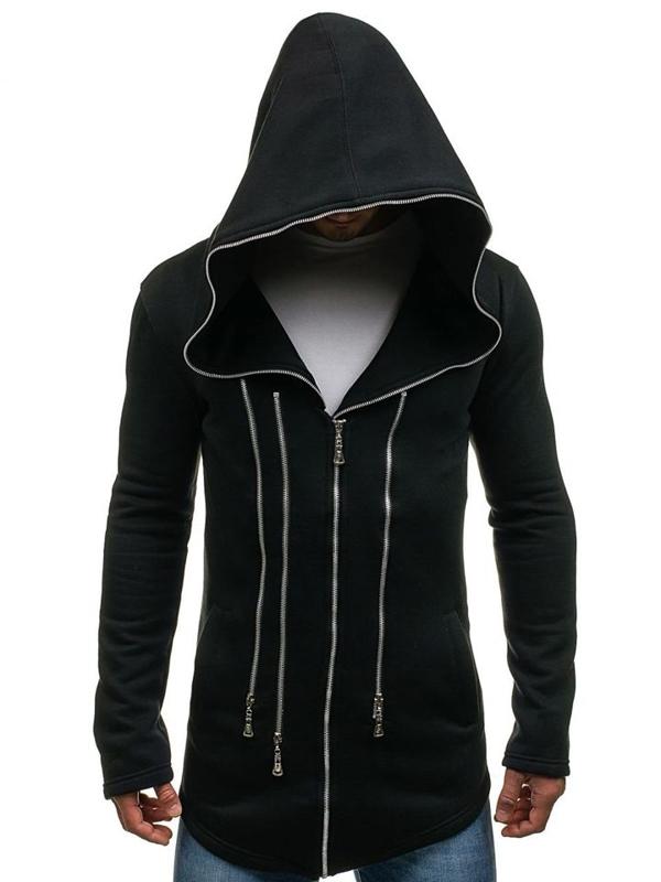 Bluza męska z kapturem czarna Denley Y36-2