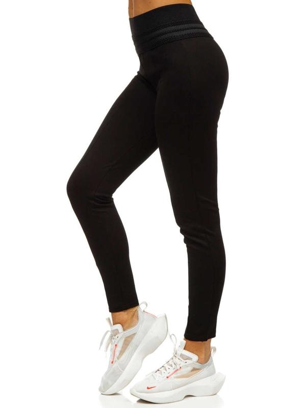 Czarne legginsy damskie Denley YW01039-B1