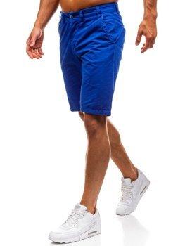 Krótkie spodenki męskie niebieskie Denley 3026