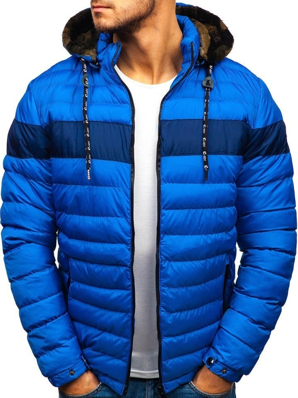 Kurtka męska zimowa niebieska Denley A410
