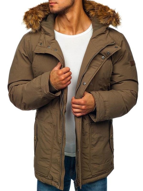 Kurtka męska zimowa parka khaki Denley 40131