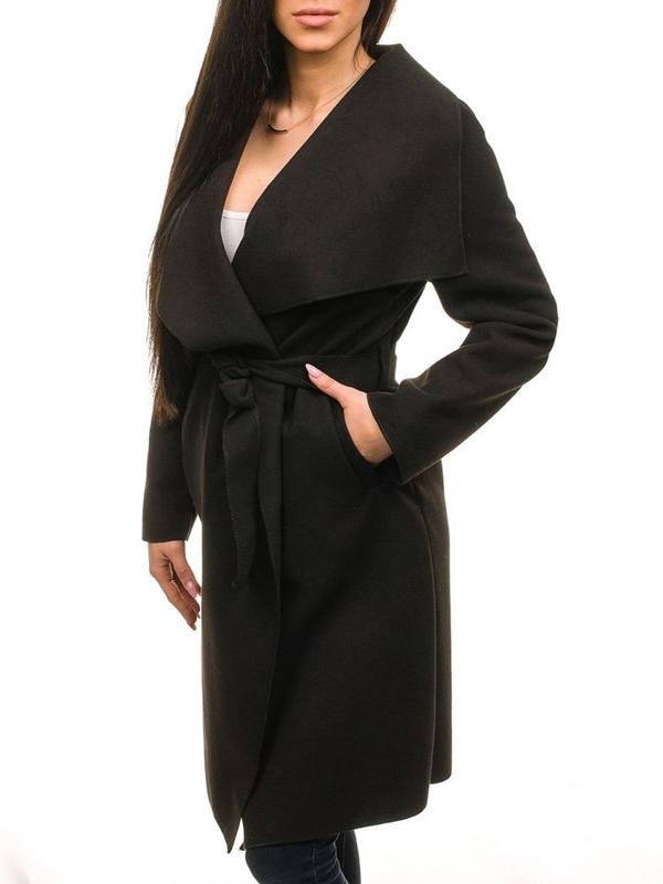 Płaszcz damski czarny Denley 1729