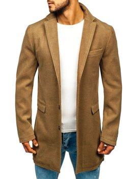 Płaszcz męski zimowy camelowy Denley 1047A