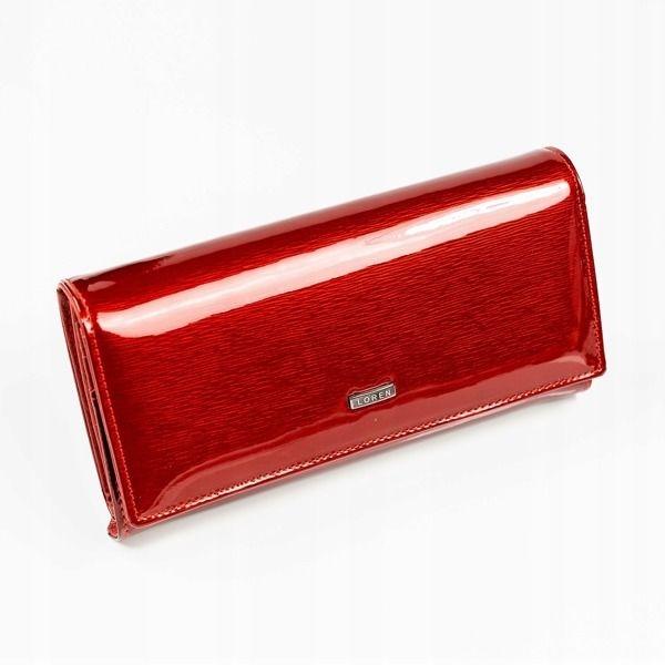 Portfel damski skórzany czerwony 887