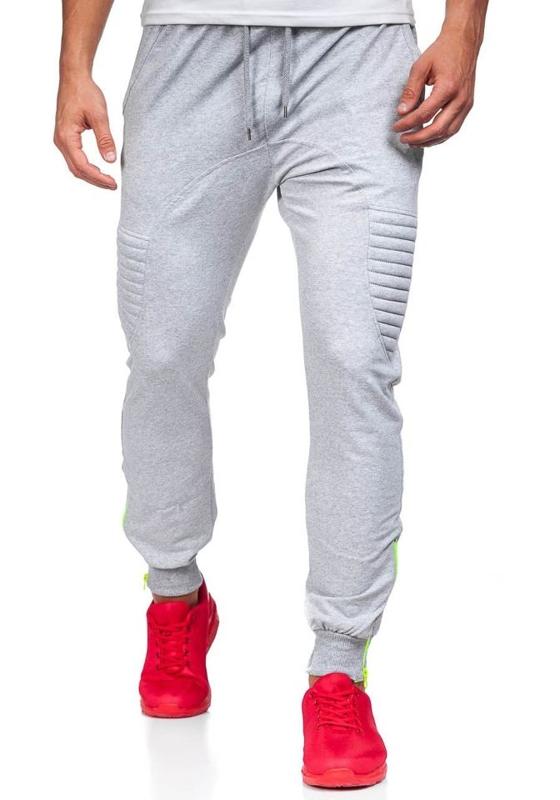 Spodnie dresowe baggy męskie szare Denley 0493