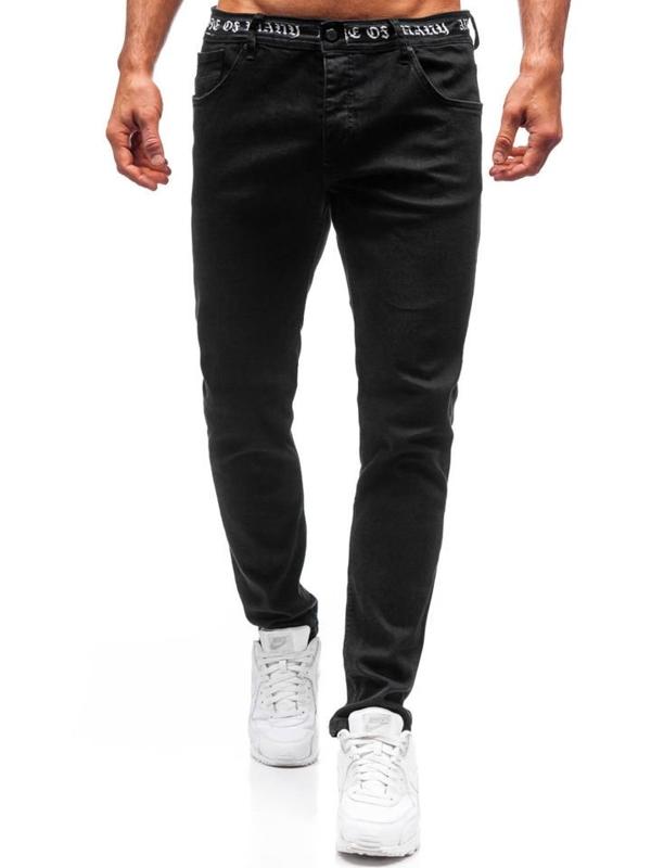 Spodnie jeansowe męskie czarne Denley 3036