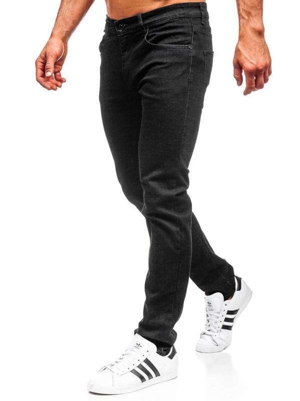 Spodnie jeansowe męskie czarne Denley KA9977