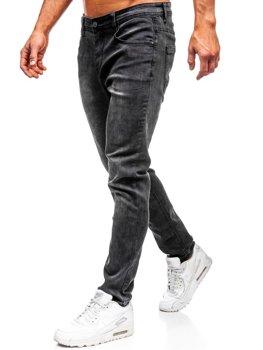 Spodnie jeansowe męskie czarne Denley KX237