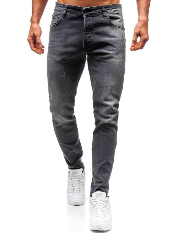Spodnie jeansowe męskie grafitowe Denley 7160