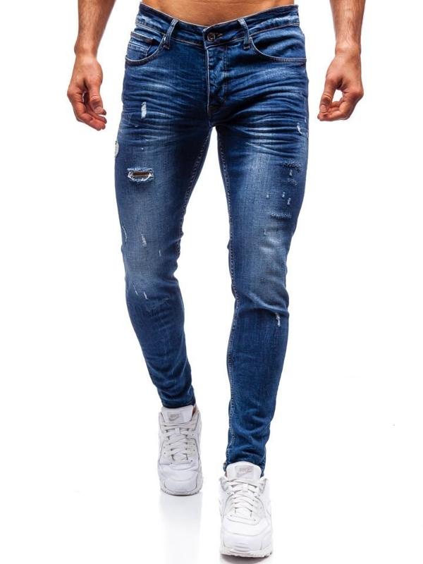 Spodnie jeansowe męskie granatowe Denley 1016