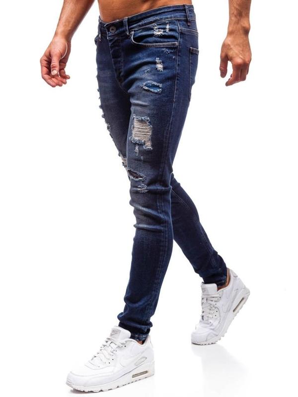 Spodnie jeansowe męskie granatowe Denley 1033