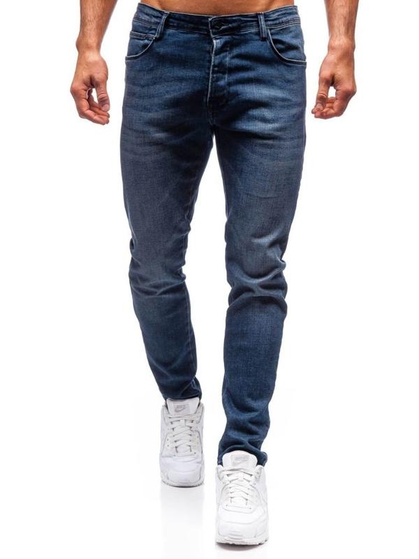 Spodnie jeansowe męskie granatowe Denley 7165