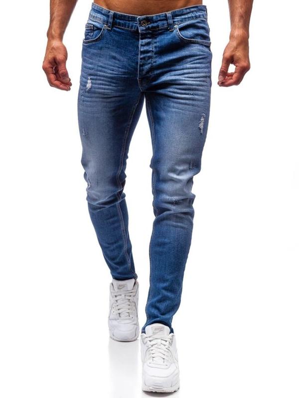 Spodnie jeansowe męskie niebieskie Denley 1007