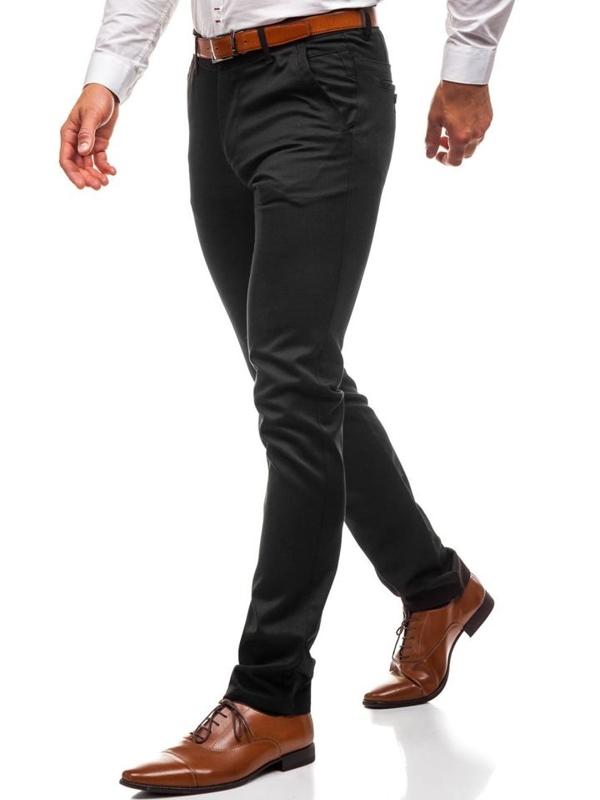 Spodnie wizytowe męskie czarne Denley 3174