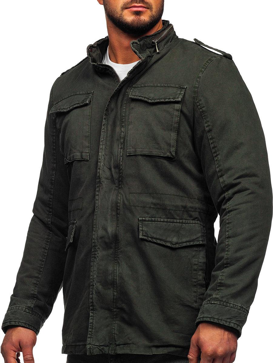 Bawełniana kurtka męska zimowa khaki Denley 5599